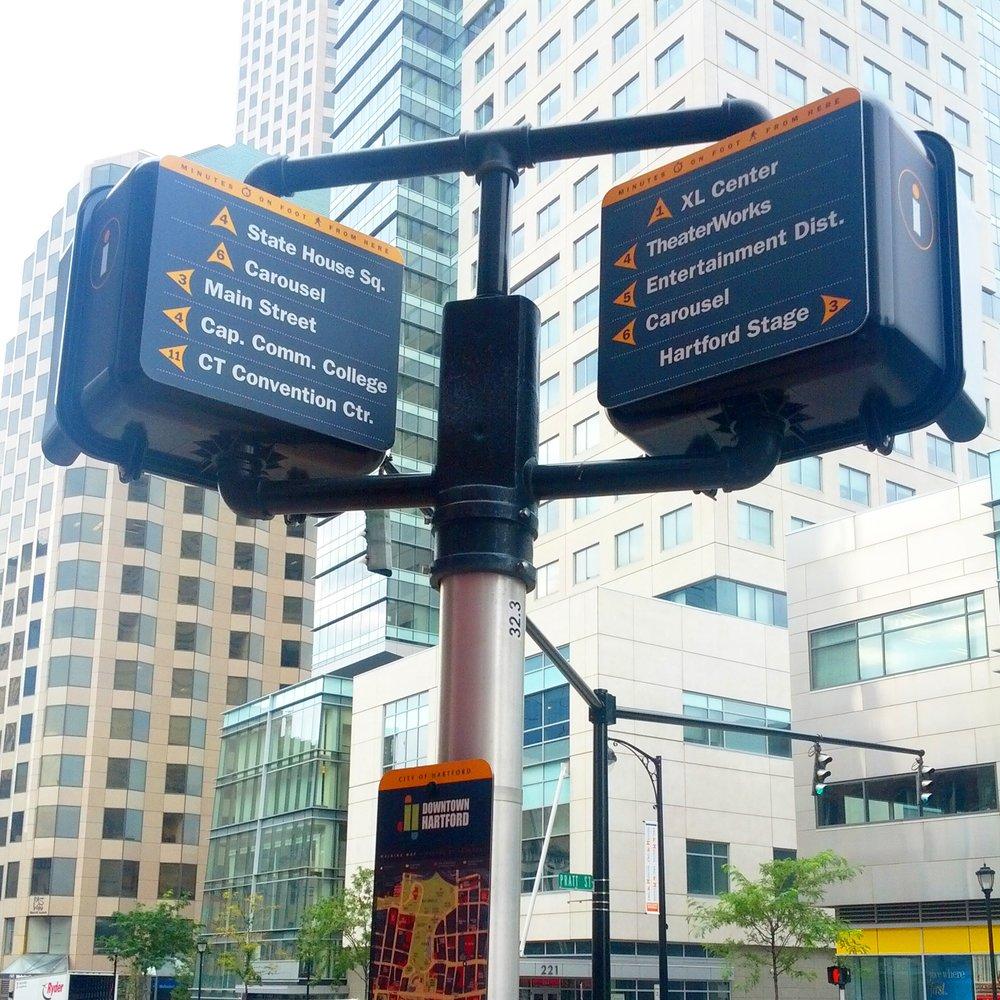 Pedestrian Wayfinding System - Hartford, CT