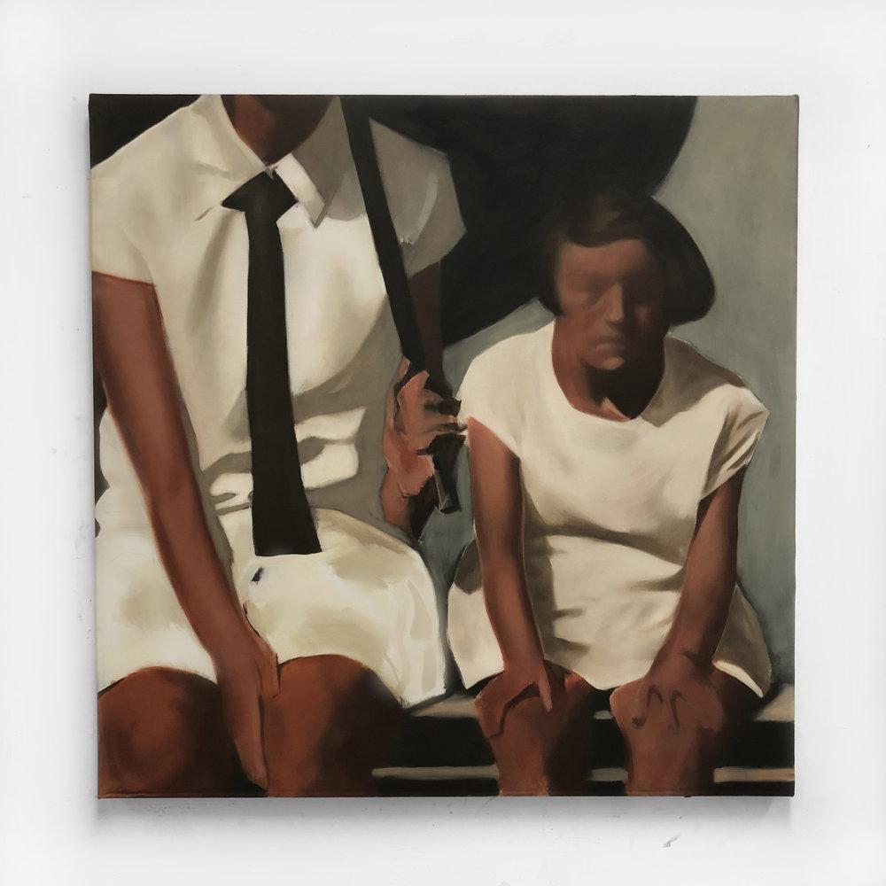 In Wait (Part II),  oil on canvas, 2017