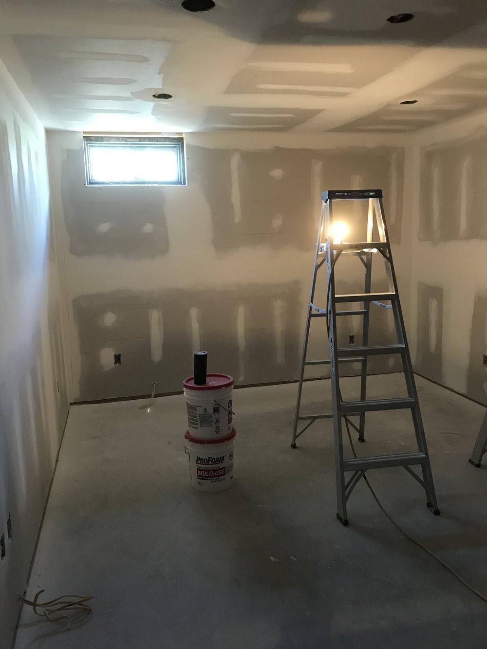 Progress - Basement Remodel in Old Lyme CT - Shaw Remodeling.JPG