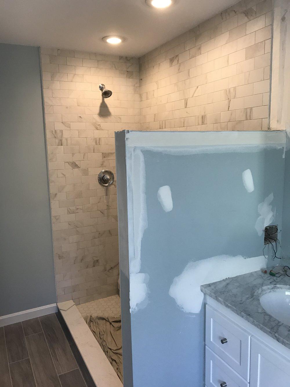 Progress photo - Bathroom Remodel in Old Lyme CT