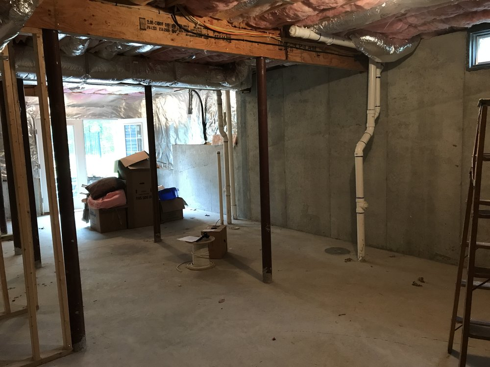 Shaw Remodeling - Before Photo - Basement Remodel in Old Lyme CT (5).JPG