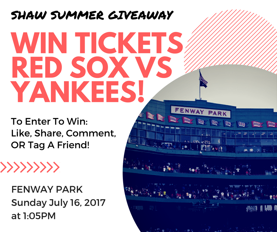 Win Red Sox Yankees Tickets Shaw Remodeling