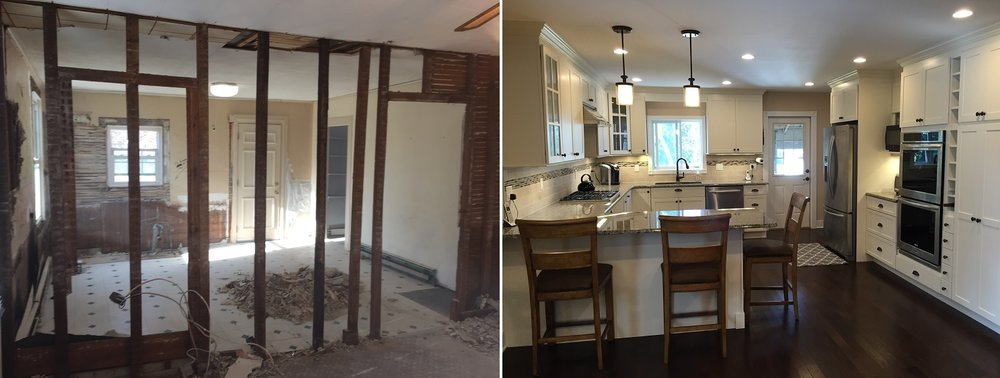 Shaw Remodeling Kitchen Design Before and After
