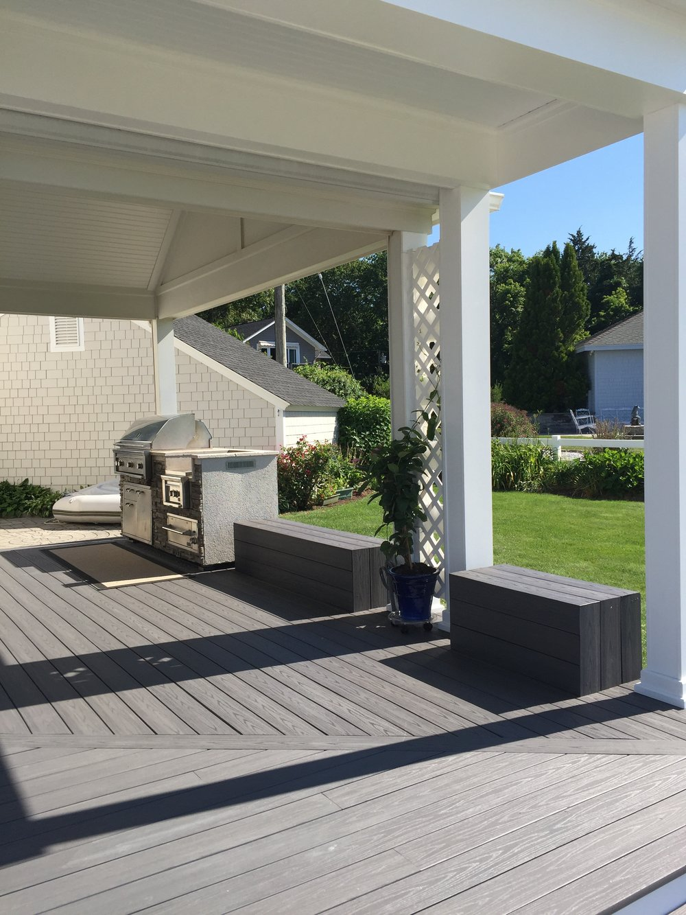 Two Level Deck in Old Lyme CT