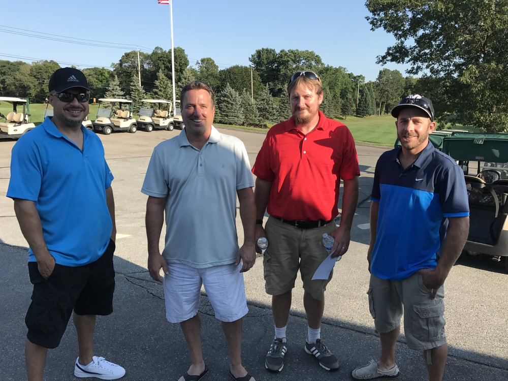Jose, Colin, Gregg, and Mike at Warriors For Warriors Golf Tournament