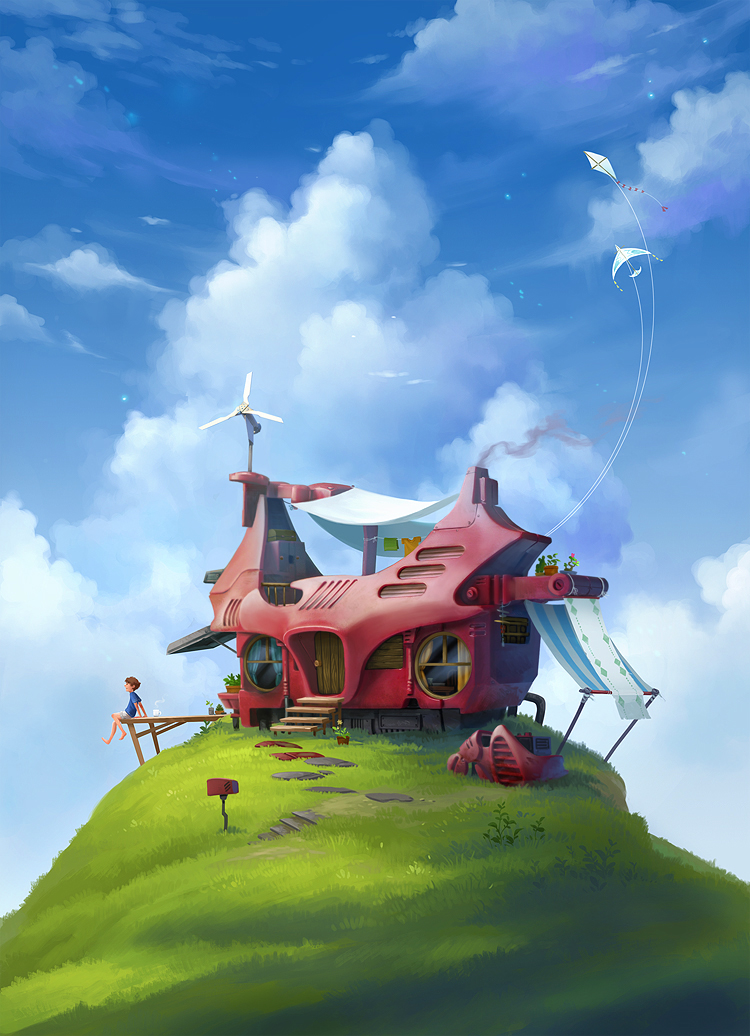 Source:  House on a hill by Sandara