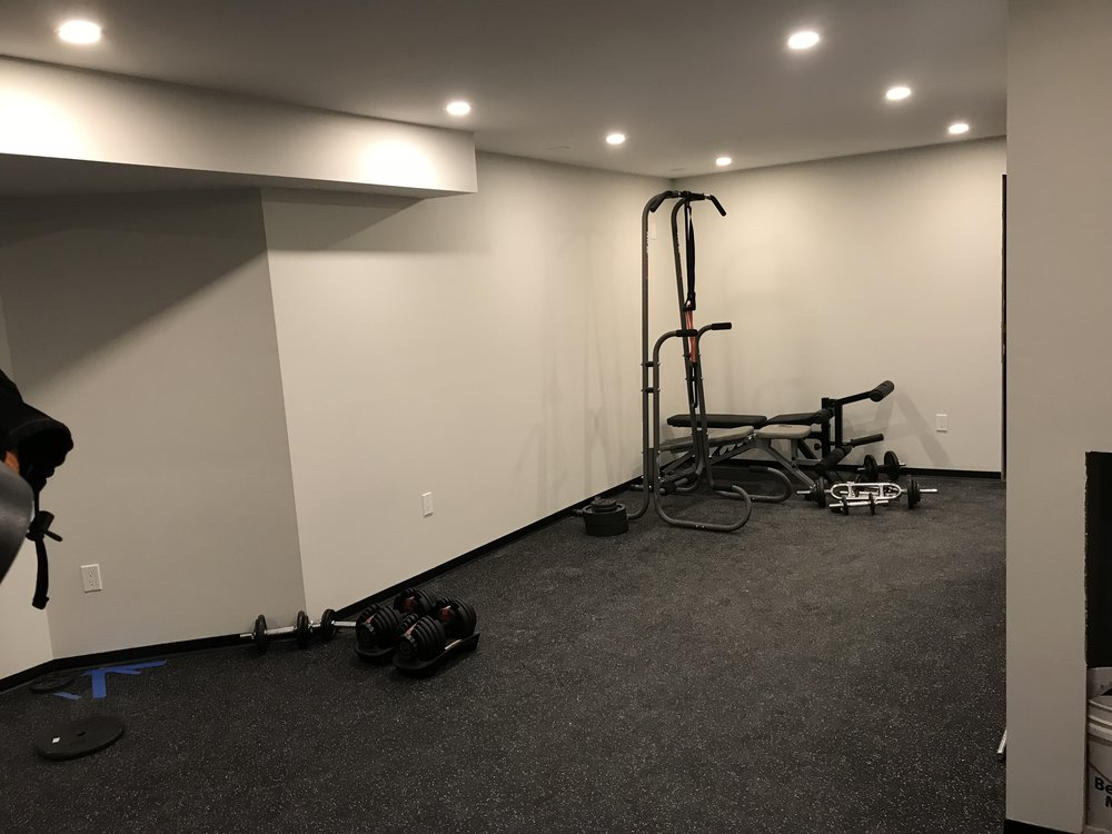 Shaw Remodeling - After photo - asement finish gym area (2).jpg