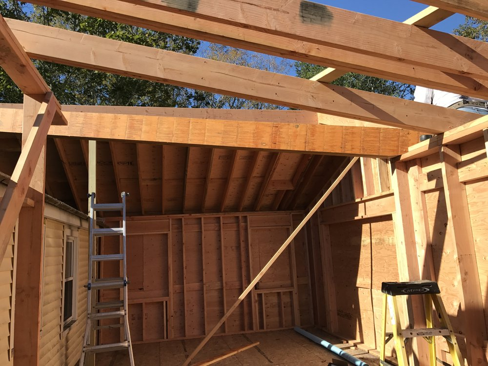 Shaw Remodeling  - Progress photo - Framing - House Addition in Old Lyme CT (3).JPG