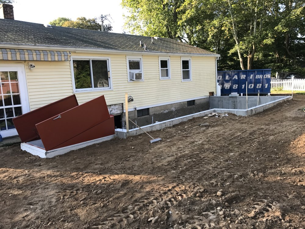 Shaw Remodeling - Progress photo - Foundation - House Addition in Old Lyme CT (1).JPG