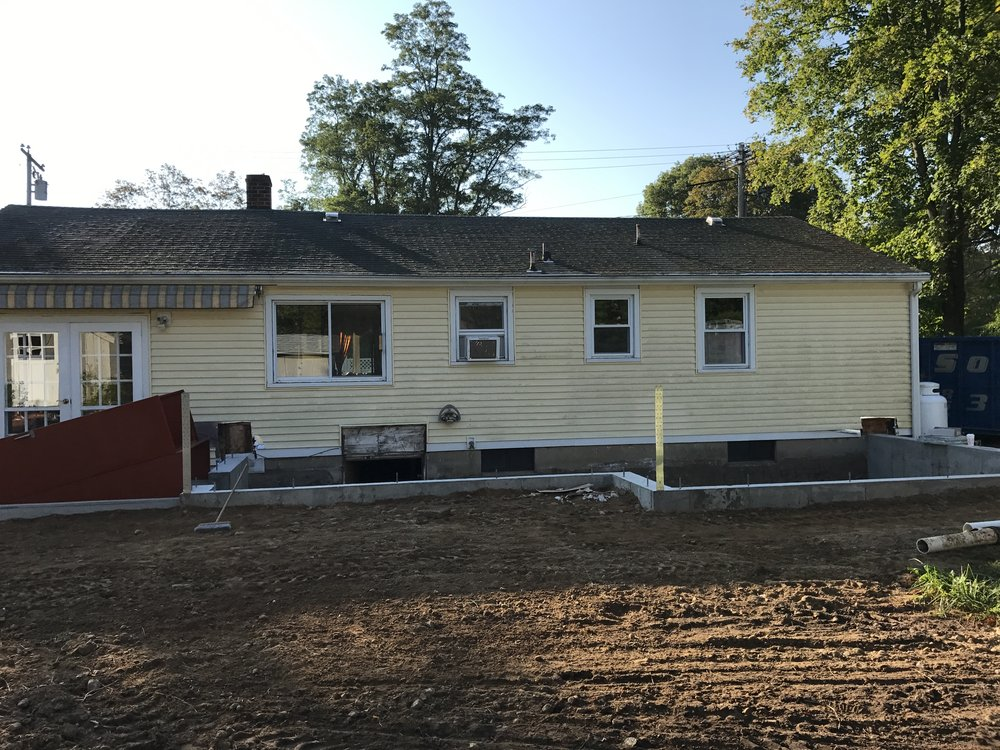 Shaw Remodeling - Progress photo - Foundation - House Addition in Old Lyme CT (2).JPG