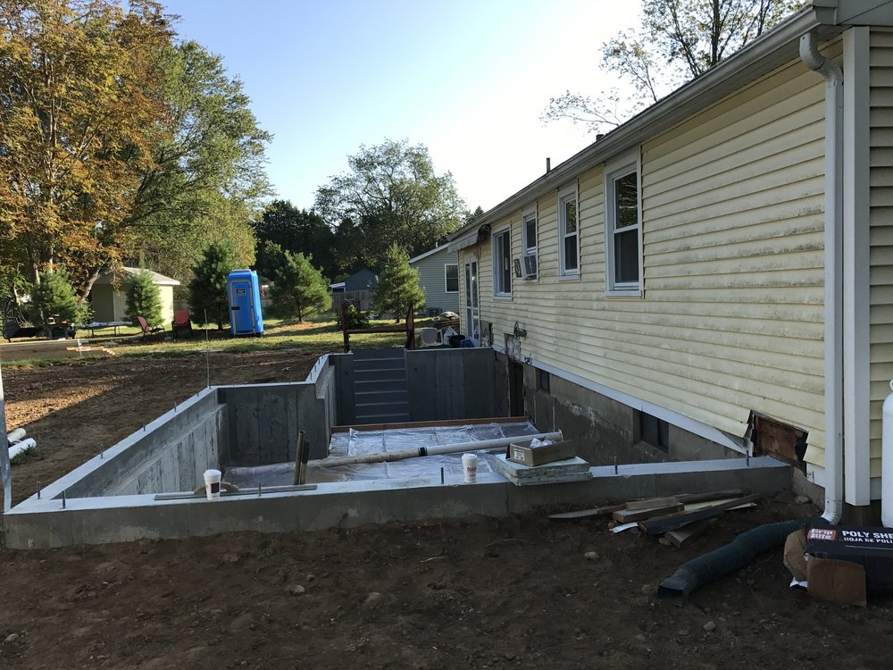 Shaw Remodeling - Progress photo - Foundation - House Addition in Old Lyme CT (3).JPG