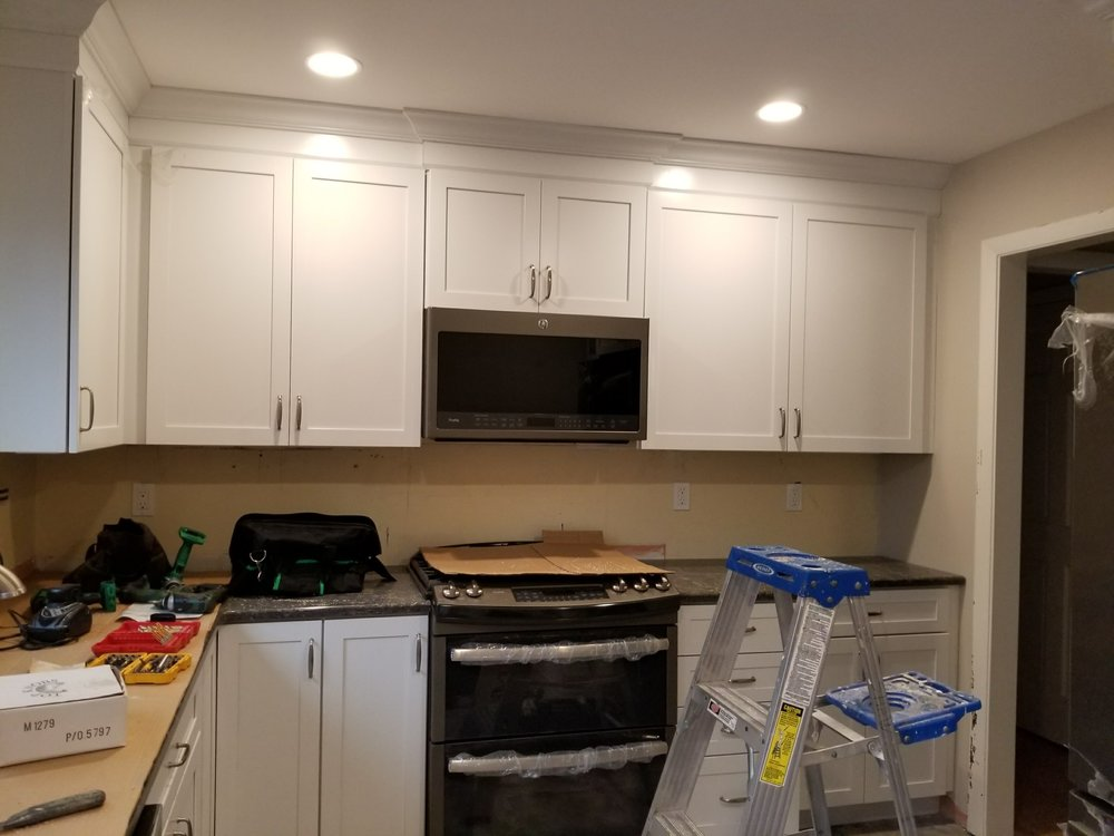 Progress photo - Kitchen Remodel in East Lyme CT