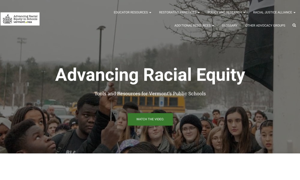 VT NEA Racial Equity Toolkit : resources for students, teachers and administrators