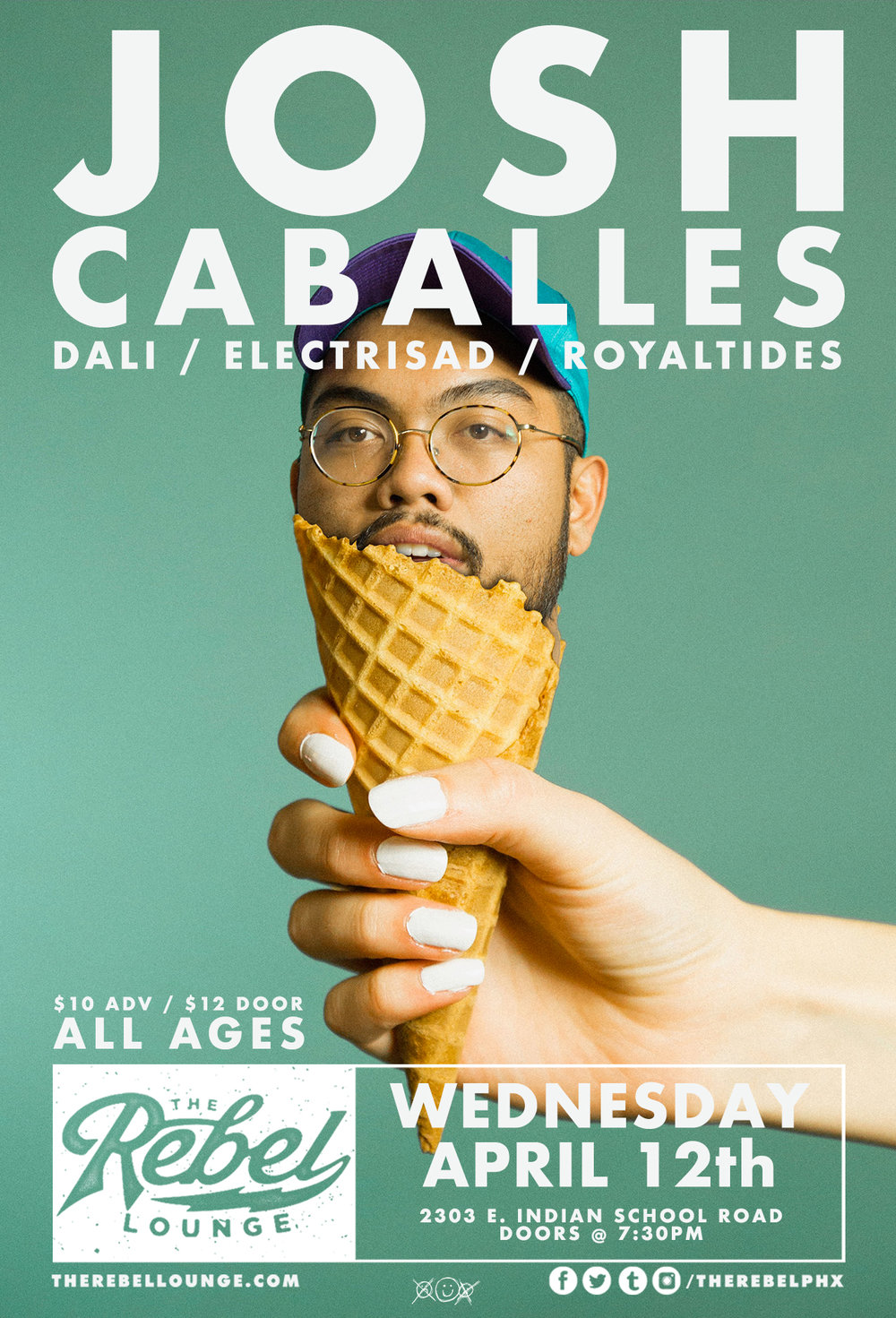 Josh Caballes ft Dali - Electrisad - Royal Tides - 4.12.17. | 7:30PM | 2303 E Indian School Road Doors