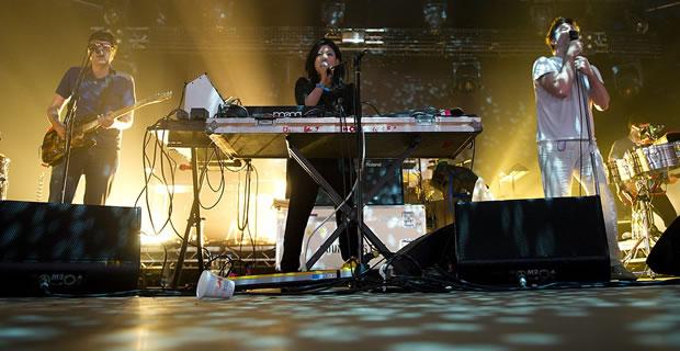 LCD Soundsystem performing at  Roskilde Festival 2010 in Denmark, via Wikipedia.