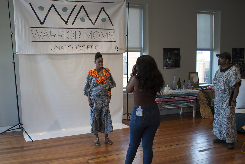 Warrior Mom Sharon with photographer Dejah,