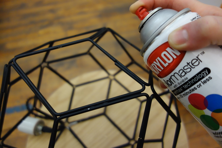 Hit your assembled structure with some spray paint to give it a clean finish.