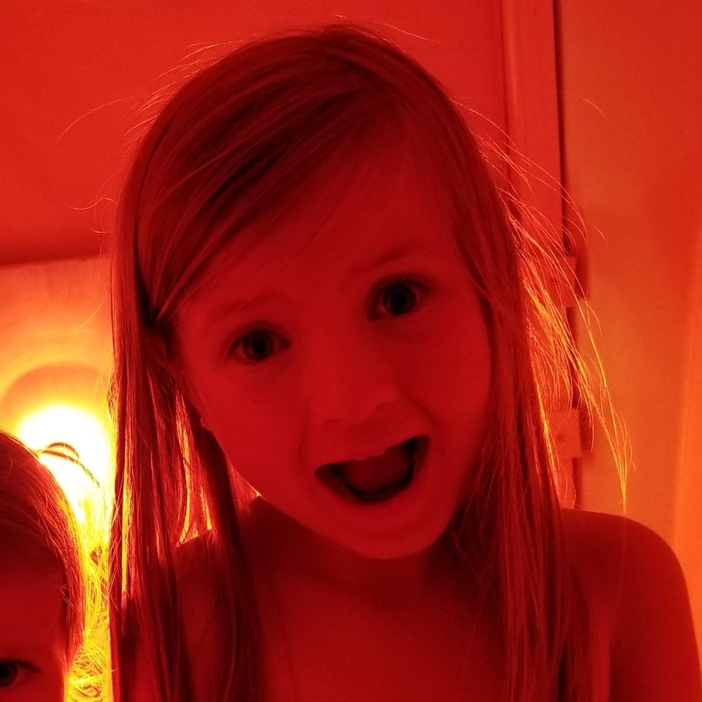 My little one wanted the phone, but she really really loves the warmth of the sauna before bed!