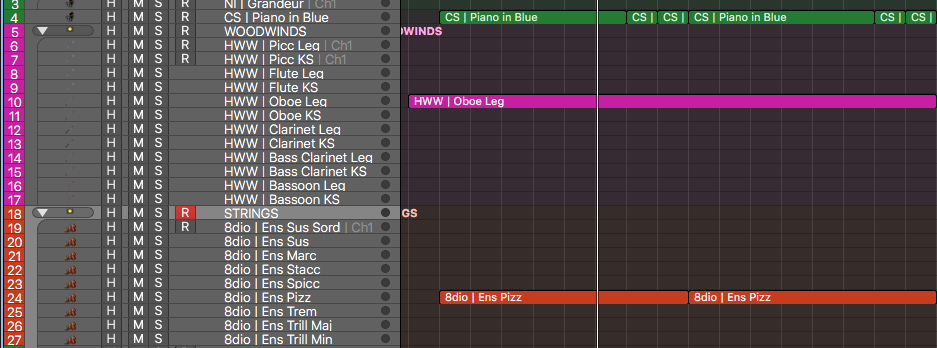 Select tracks you want to color