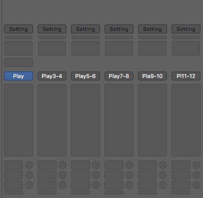 Outputs of PLAY within Logic should look like this and if all done properly whatever you assign in PLAY will be heard from the track with the same output.