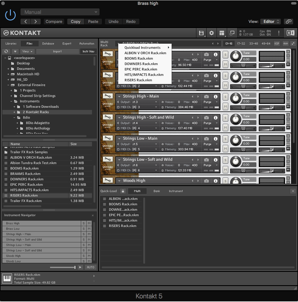 kontakt library disappears mac