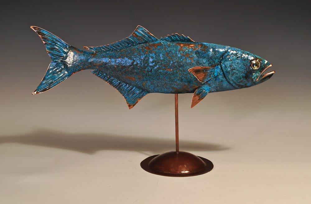 Bluefish w/blue patina