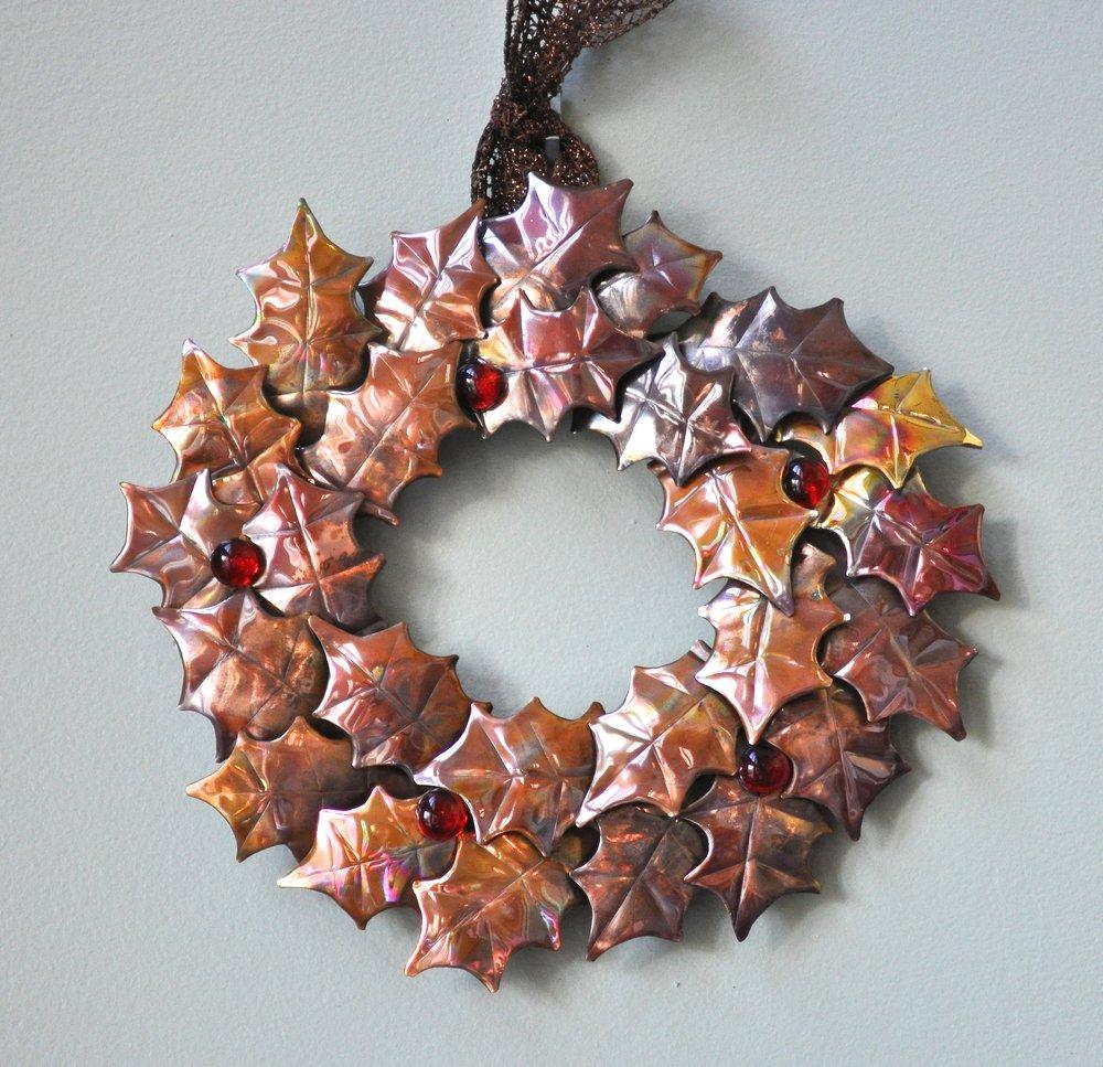 """Holly Wreath 10"""""""