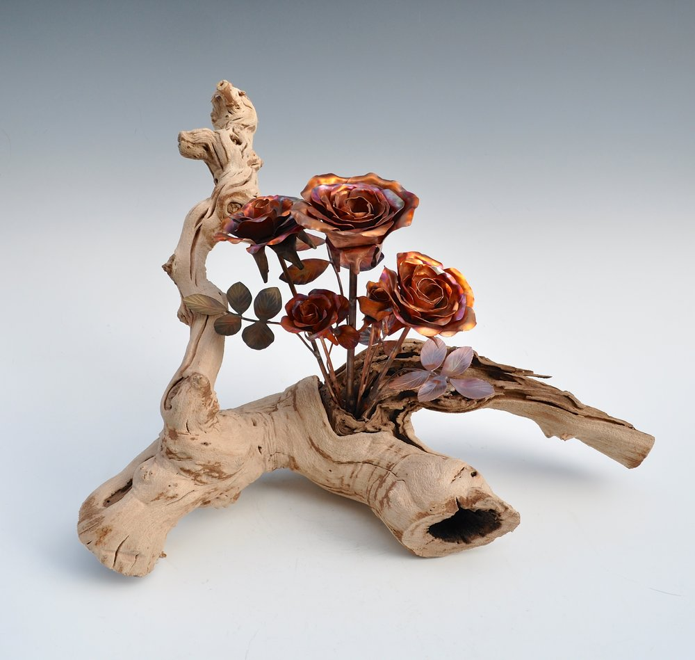 Roses in Grape Wood