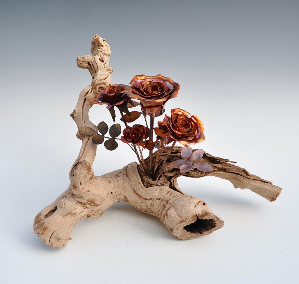 Roses in Grape Wood