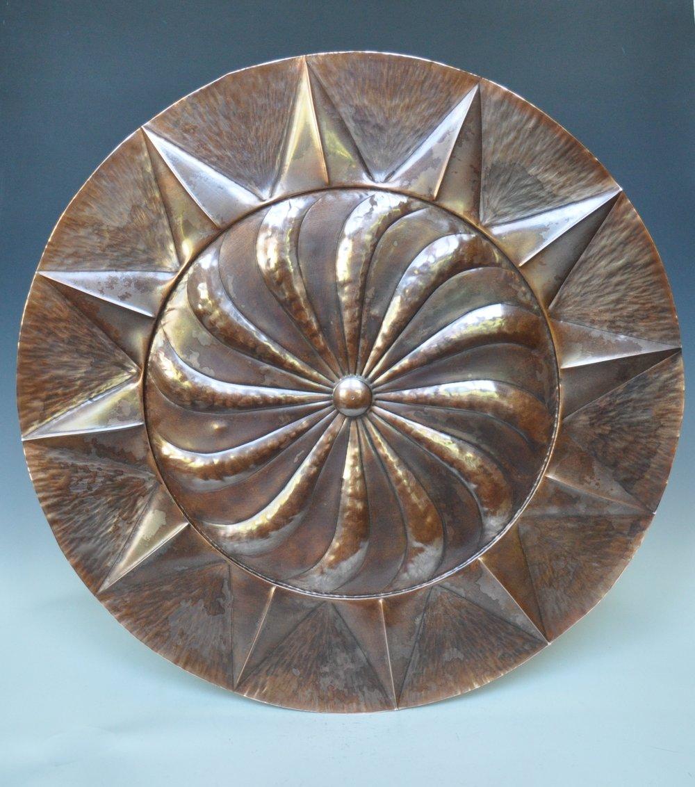 """Spiraling Sun Platter - 24"""""""