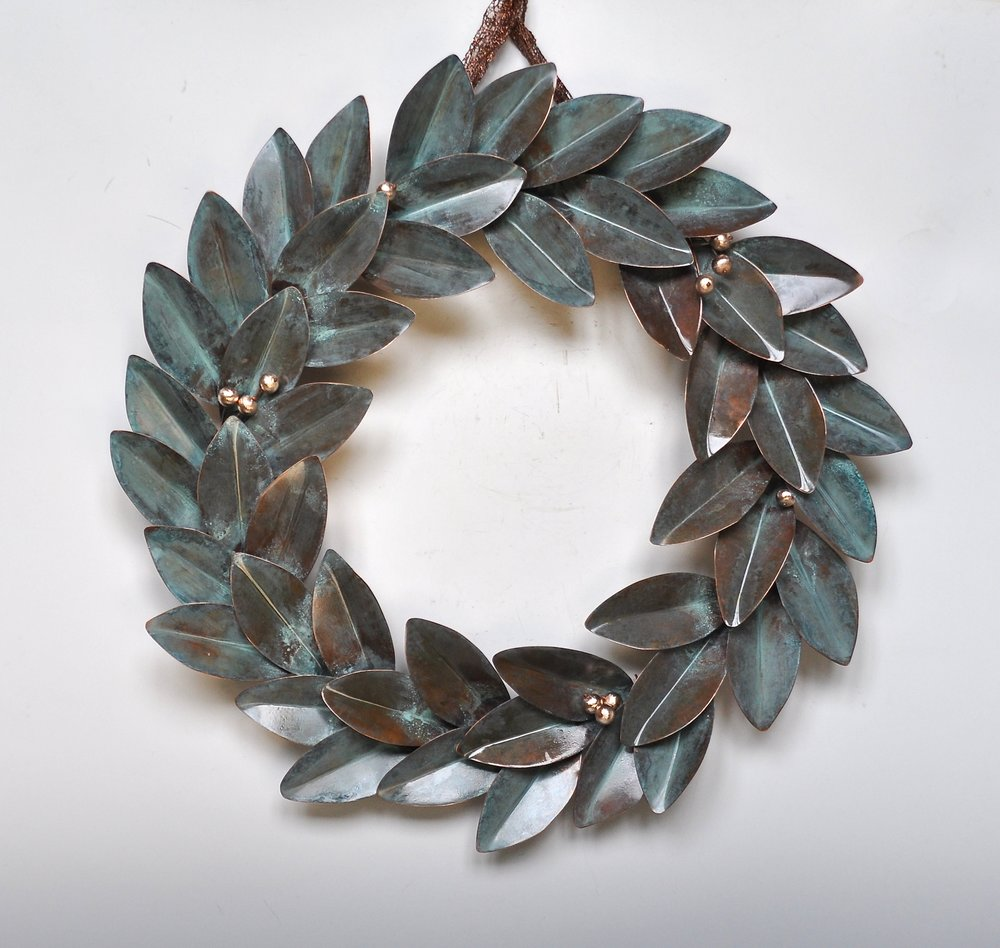"Green Wreath - 22"""