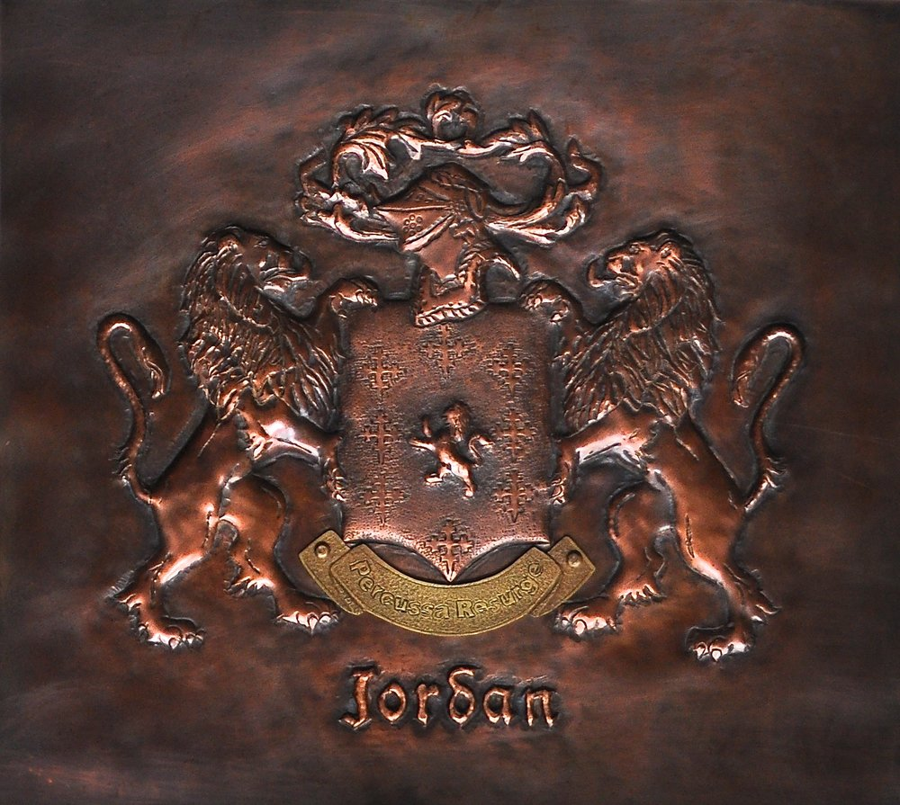 "Jordan Family Crest - 12"" X 13"""
