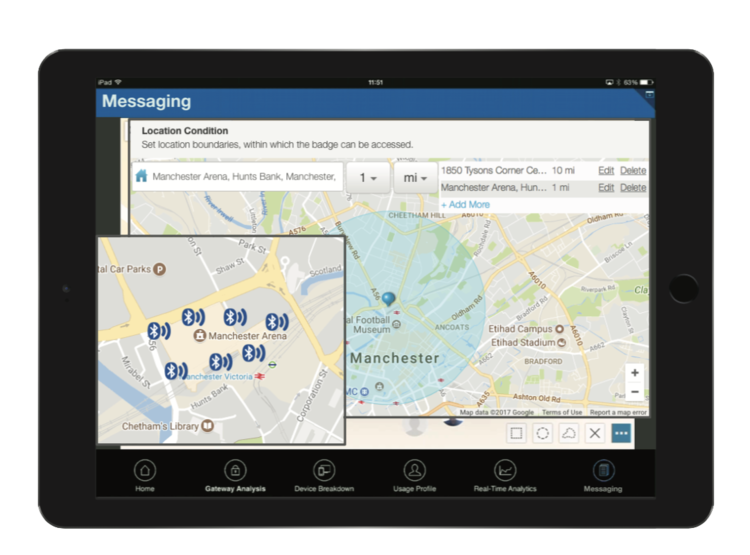 Coordinate Real-Time - In addition to the tracking capabilities, you are able to message your personnel, coordinate and adjust access areas, and receive reports on access movements throughout the day!