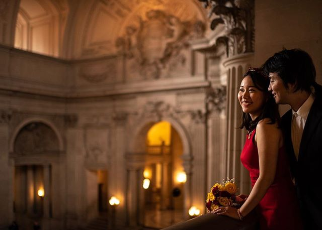 San Francisco City Hall is an awesome backdrop for a wedding. Congrats Nikki and Jiahan . . . . . . . #sanfranciscophotographer #sanfranciscoengagementphotographer #magmod #weddingphotography #weddingphotographer  #engagementphotos #beachengagement #sanfranciscoengagement #couplesession #engagementshoot #chasinglight #agameoftones #fearlessphotographer #engagement #engaged #shesaidyes #ido #gettingmarried #theknot #bride #junebugweddings