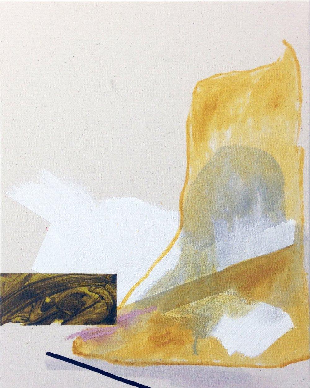 "Oil and acrylicon canvas 45.5cm x 35.5cm (18"" x 14"") 2017"
