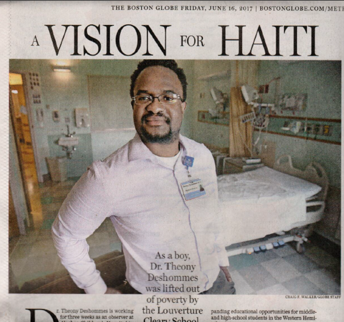 """Director Seeks to Replicate Success of School Throughout Haiti"" -  The Boston Globe , June 2017"
