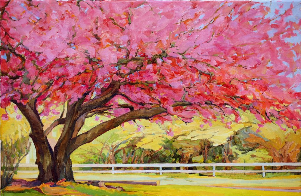Big 'Ol Cherry Tree, 14x21