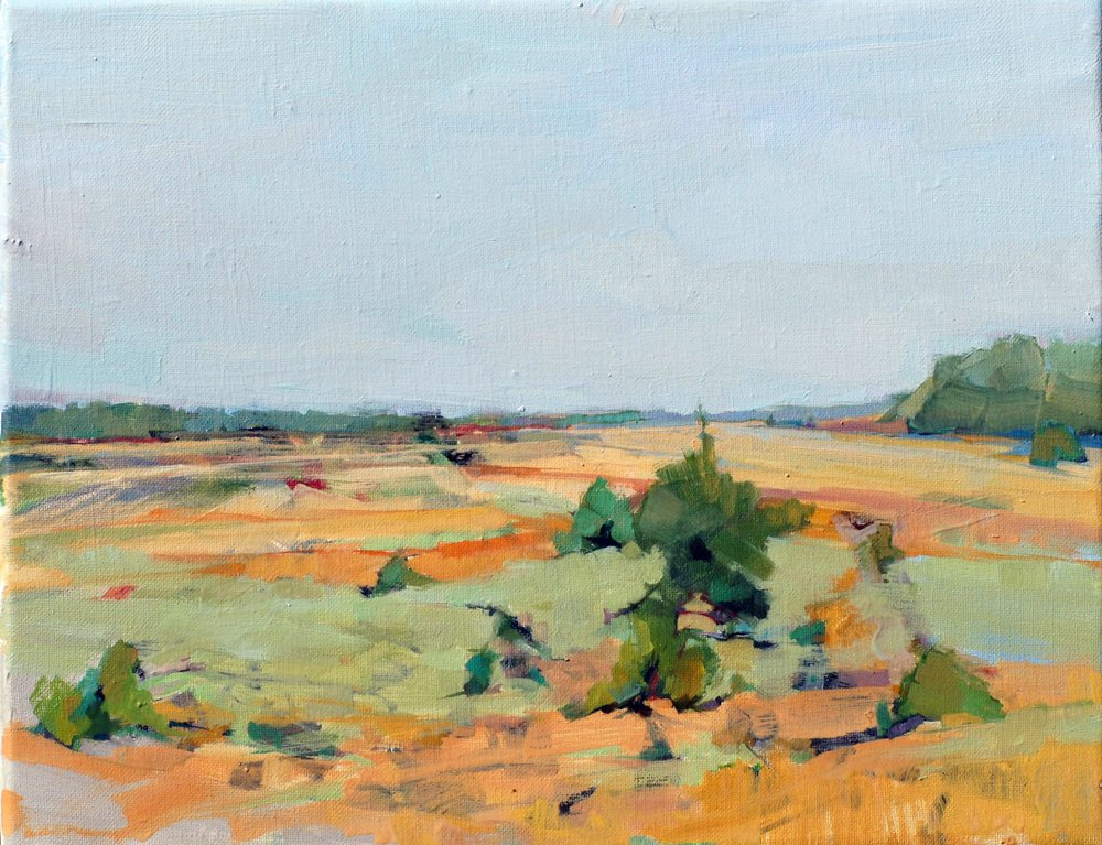 Hot Day in an Open Field. 11x14