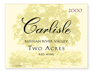 """Russian River Valley """"Two Acres"""" Red Wine"""