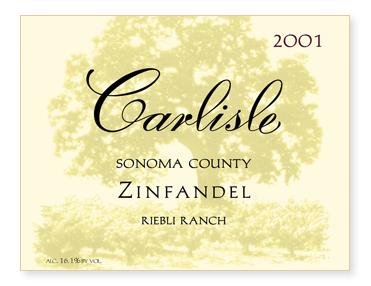 "Sonoma County ""Riebli Ranch"" Zinfandel"