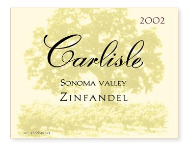 Sonoma Valley Zinfandel