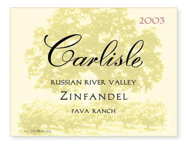 "Russian River Valley ""Fava Ranch"" Zinfandel"