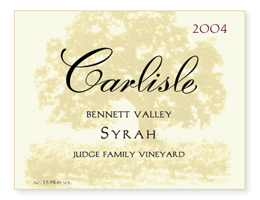 "Bennett Valley ""Judge Family Vineyard"" Syrah"