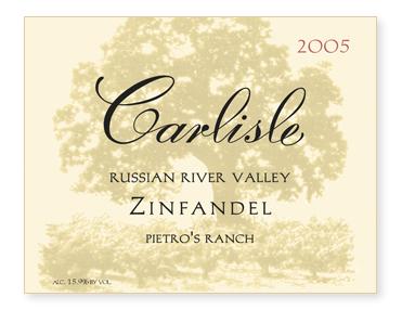 """Russian River Valley """"Pietro's Ranch"""" Zinfandel"""
