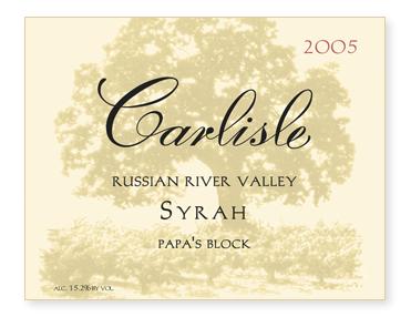 """Russian River Valley """"Papa's Block"""" Syrah"""