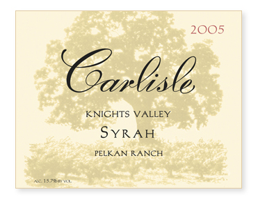 "Knights Valley ""Pelkan Ranch"" Syrah"