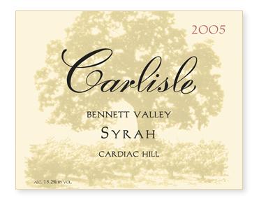 """Bennett Valley """"Cardiac Hill"""" Syrah"""