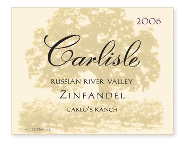 """Russian River Valley """"Carlo's Ranch"""" Zinfandel"""