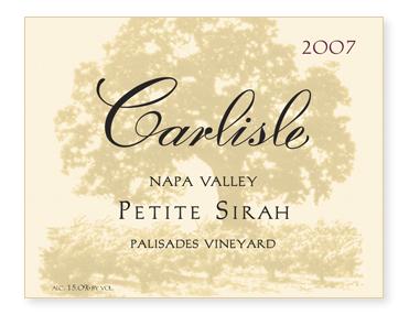 """Napa Valley """"Palisades Vineyard"""" Petite Sirah"""