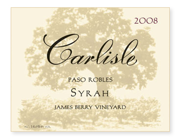 "Paso Robles ""James Berry Vineyard"" Syrah"
